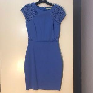 Gianni Bini cut out lace blue dress